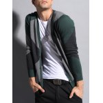 V Neck Color Matching Button Up Cardigan deal