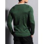 Ribbed V Neck Two Tone Sweater deal