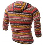 cheap Zip Up Tribal Printed Hoodie