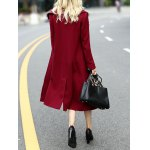 best Double Breasted Wool Blend Lapel Collar Coat