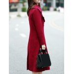 Double Breasted Wool Blend Lapel Collar Coat for sale