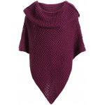 best Plus Size Knitted Asymmetric Chunky Cape
