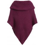 Plus Size Knitted Asymmetric Chunky Cape photo