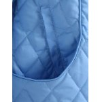 best Plus Size Hooded Grid Quilted Coat