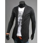 cheap Slim Fit Shawl Collar Open Front Cardigan