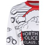 Santa Claus Striped Graphic Pullover Christmas Sweatshirt deal