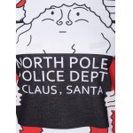 Santa Claus Striped Graphic Pullover Christmas Sweatshirt for sale