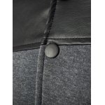PU Leather Splicing Design Stand Collar Single Breasted Jacket for sale