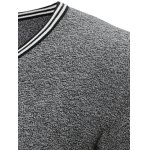 V Neck Striped Pullover Cricket Sweater deal