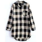 cheap Plus Size Plaid Blouse