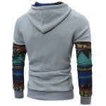 cheap Raglan Sleeve Tribal Printed Pullover Hoodie