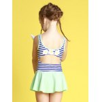 Girls Stripe Hollow Out One Piece Swimsuit for sale