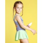 Girls Stripe Hollow Out One Piece Swimsuit deal