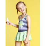 cheap Girls Stripe Hollow Out One Piece Swimsuit