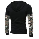 cheap Raglan Sleeve Panel Camouflage Pullover Hoodie