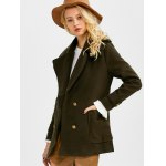 Double Breasted Lapel Pea Coat for sale