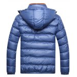 cheap Detachable Hooded Zip Up Thicken Down Jacket