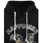Letter Graphic Camo Hoodie deal