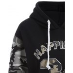 Letter Graphic Camo Hoodie for sale