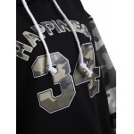 Letter Graphic Camo Hoodie photo
