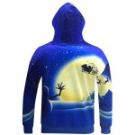 cheap Snowman Print Pullover Christmas Patterned Hoodies