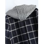 Hooded Plus Size Plaid Coat for sale