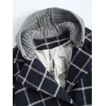 Hooded Plus Size Plaid Coat deal