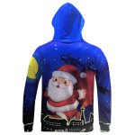 cheap Christmas Santa Claus Printed Pullover Hoodie