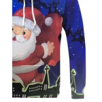 Christmas Santa Claus Printed Pullover Hoodie for sale