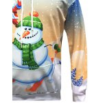Christmas Santa Snowman Printed Pullover Hoodie for sale