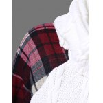 Plaid Cable Knit Tunic Sweater deal