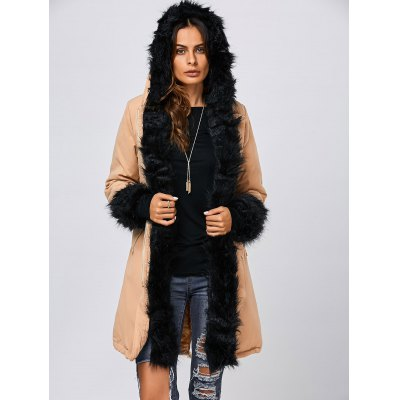 Faux Fur Hooded Parka JacketJackets &amp; Coats<br>Faux Fur Hooded Parka Jacket<br><br>Clothes Type: Padded<br>Material: Faux Fur,Polyester<br>Type: Wide-waisted<br>Clothing Length: Long<br>Sleeve Length: Full<br>Collar: Hooded<br>Pattern Type: Solid<br>Embellishment: Pockets<br>Style: Streetwear<br>Season: Fall,Spring,Winter<br>Weight: 1.070kg<br>Package Contents: 1 x Jacket
