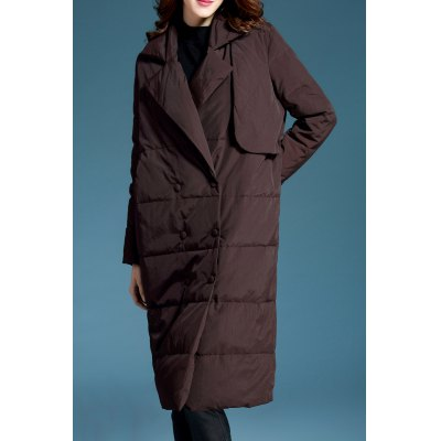 Double Breasted Oversized Long Down Coat