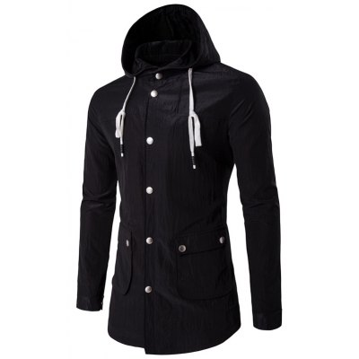 Snap Front Hooded Jacket
