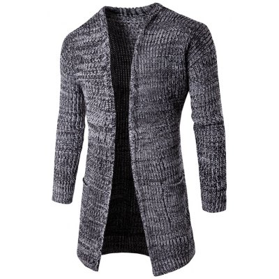 Pocket Flat Knitted Open Front Cardigan