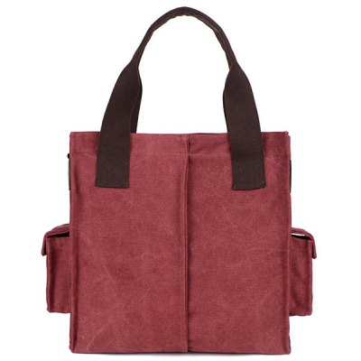 Zip Large Canvas Tote