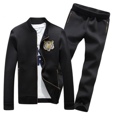 Embroidered Jacket and Zip Pocket Pants Twinset