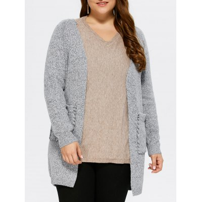 Open Front Lace Up Cardigan