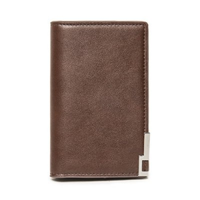 Metal PU Leather Bi Fold WalletMens Wallets<br>Metal PU Leather Bi Fold Wallet<br><br>Wallets Type: Clutch Wallets<br>Gender: For Men<br>Style: Fashion<br>Closure Type: No Zipper<br>Pattern Type: Solid<br>Main Material: PU<br>Length: 10CM<br>Width: 1CM<br>Height: 13CM<br>Weight: 0.370kg<br>Package Contents: 1 x Wallet