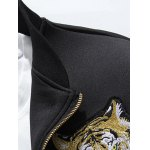 best Tiger Embroidered Jacket and Zip Pocket Pants Twinset