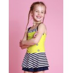 Girls Striped One Piece Swimsuit for sale