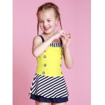 Girls Striped One Piece Swimsuit deal