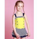 cheap Girls Striped One Piece Swimsuit