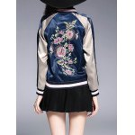 Embroidery Zip Up Souvenir Jacket for sale