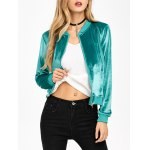 Short Velvet Bomber Jacket