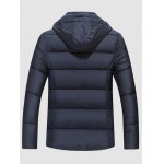 cheap Quilted Zip Up Flap Pocket Hooded Coat