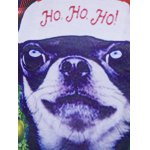 Crew Neck 3D Christmas Dog and Tartan Print T-Shirt for sale