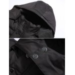 cheap Quilted Zip Up Hooded Coat