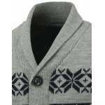 Button Front Reindeer Snowflake Christmas Cardigan deal