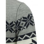Button Front Reindeer Snowflake Christmas Cardigan for sale